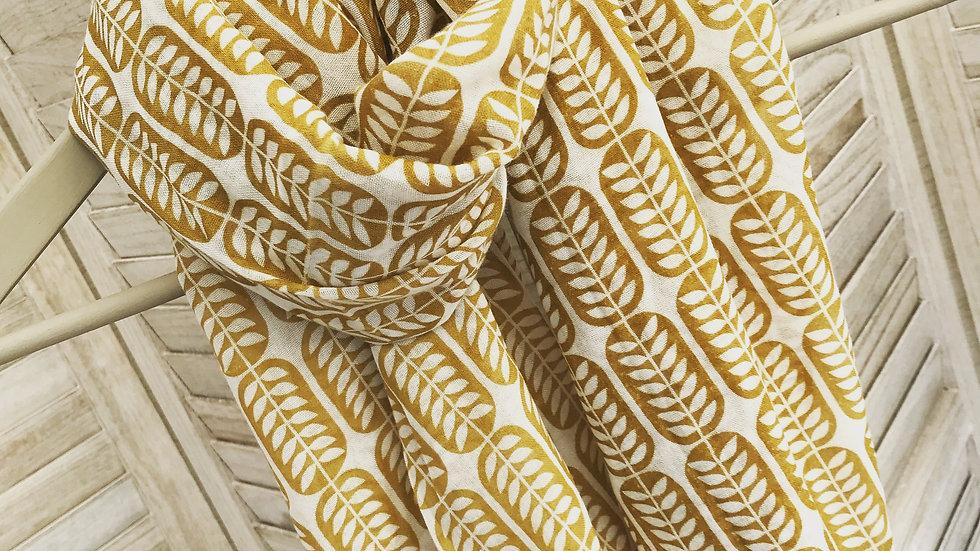 Mustard Corn Print Scarf