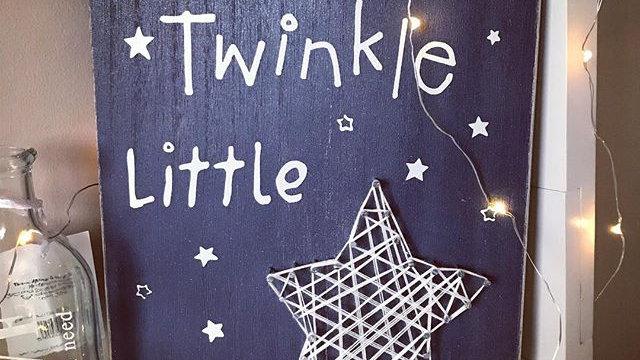 Twinkle Twinkle Little Star Wall Hanging Plaque