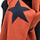 Thumbnail: Reversible Burnt Orange & Navy Stars Scarf/Wrap