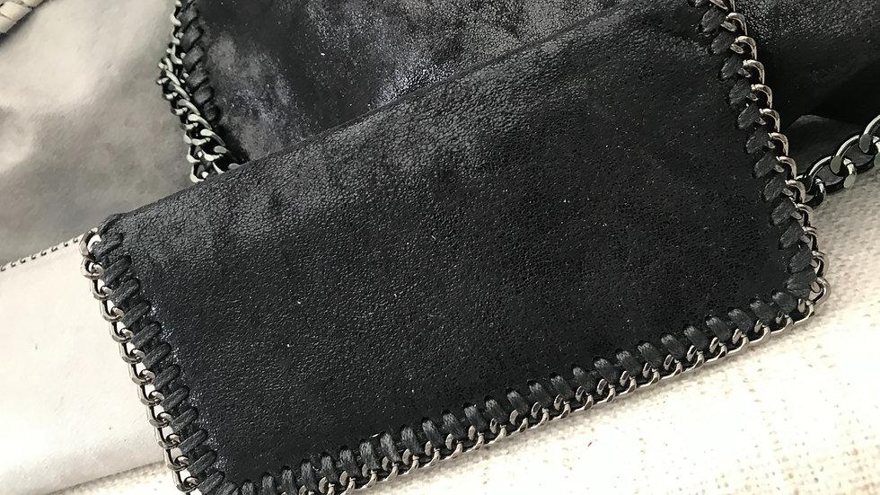 Black Fold Over Purse