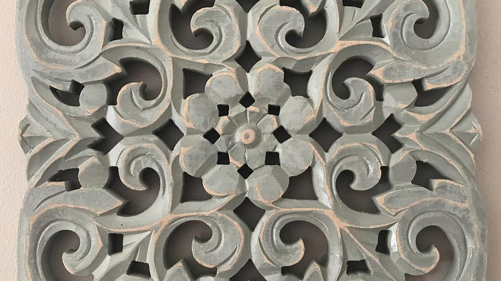 Grey Ornate Wall Panel