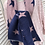 Thumbnail: Denim Blue & Baby Pink Pleated Reversible Scarf