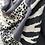 Thumbnail: Dark Grey Leopard Design Super Soft Scarf
