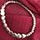 Thumbnail: Silver Heart & Light Grey Beaded Bracelet