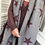 Thumbnail: Maroon & Light Grey Pleated Reversible Scarf