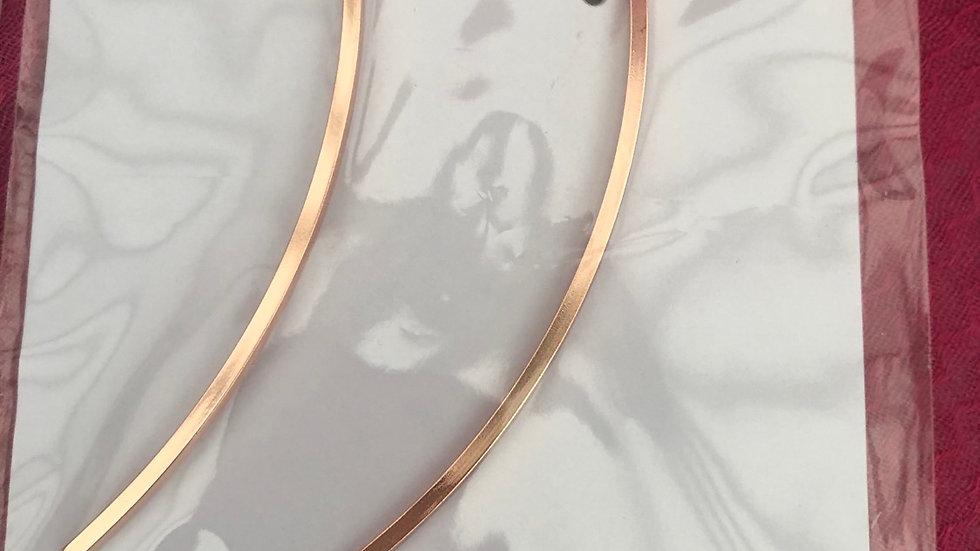 Rose Gold Long 'Pull through' Earrings