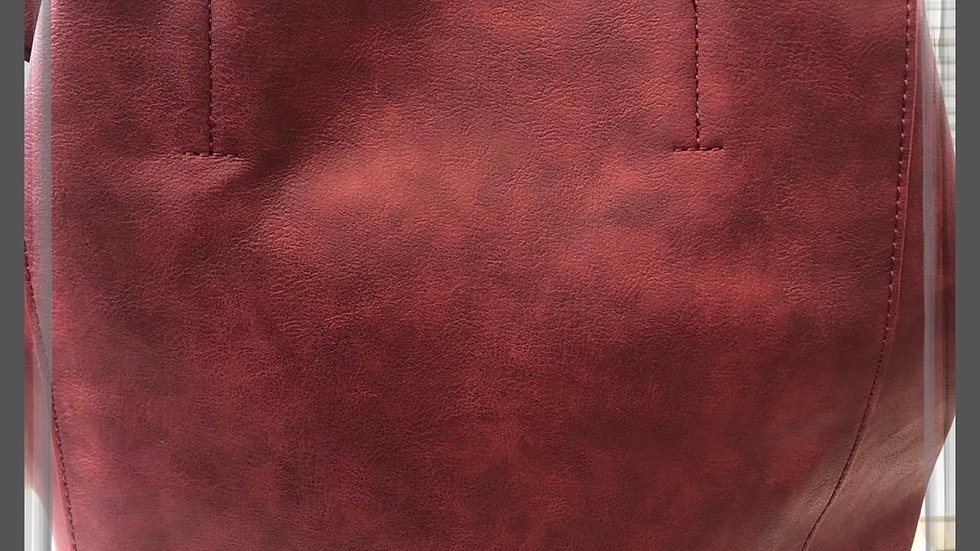 Dark Red Tote Bag with Detachable Inner Bag