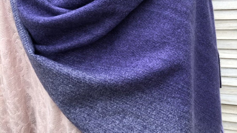 Purple Brushed Cotton Scarf
