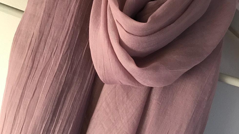 Dusky pink super soft scarf
