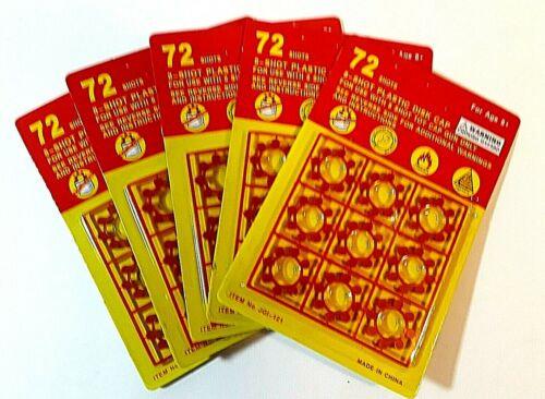 12 SHOT RING CAPS 72 SHOTS PER CARD x 20 packs 1440 caps