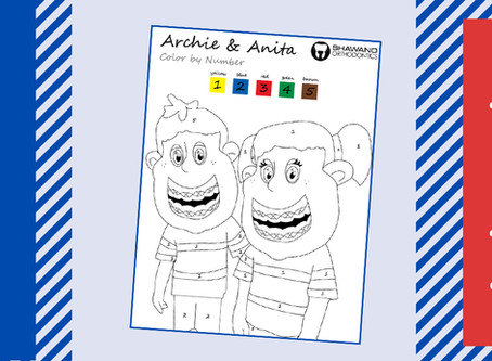 Fun Activity: Color By Number of Archie and Anita