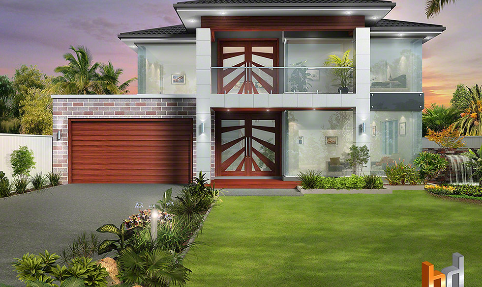 3D external Artist Impression Sydney for design, material and colour selections.  Plumpton NSW Artist Impression NSW