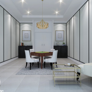 3D internal render of a Mahjong Room in Sanctuary Cove QLD
