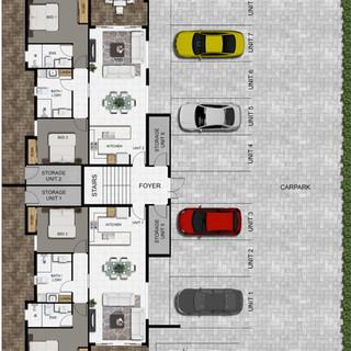 2D colour site plan development project
