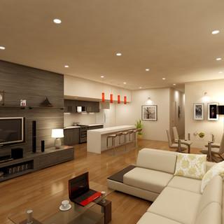 3D Living Area Render for Real Estate Marketing - Salamander Bay NSW by Budde Design
