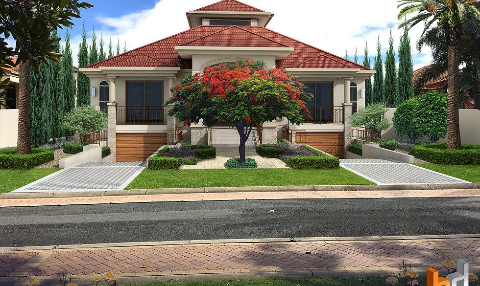 3D Artist Impression gold coast QLD Photomontage for a custom design Riverleigh Drive Hope Island