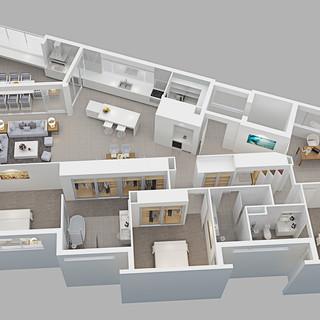 3D floor plan - Mermaid Beach QLD