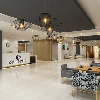 Seasons Aged Care Mango Hill, Brisbane QLD 3D render Lobby