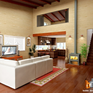 Internal Render of clients custom design and colour selection - Stokers Siding NSW by Budde Design
