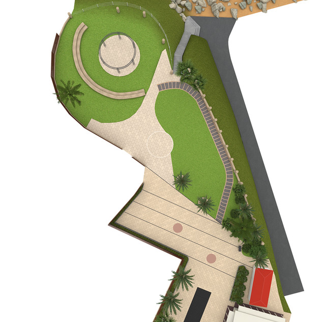 """3D Site plan for """"iplan"""" a wedding planner iphone application. There will be around 100 sites developed for this iphone app of various sites around Israel in the Middle East."""