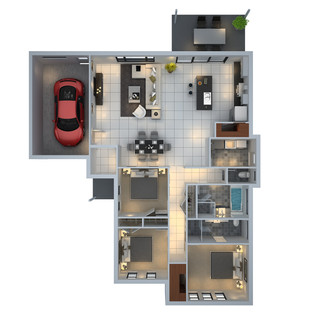 3D floor plan unit6 for a building company - Mudgee NSW