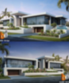 3D Rendering front facade Anglers Esplanade, Runaway Bay, Artist Impression Gold Coast QLD