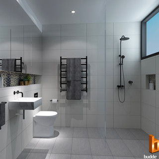 3D Internal Bathroom render for Raine and Horne - Narrabeen NSW