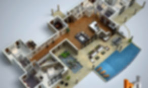 3D floor plan Hawaii real estate marketing