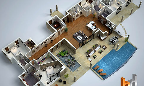 3D floor plan Hawaii marketin image