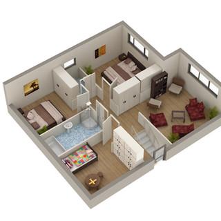 3D Floor plan for Real Estate Marketing - Salamander Bay NSW