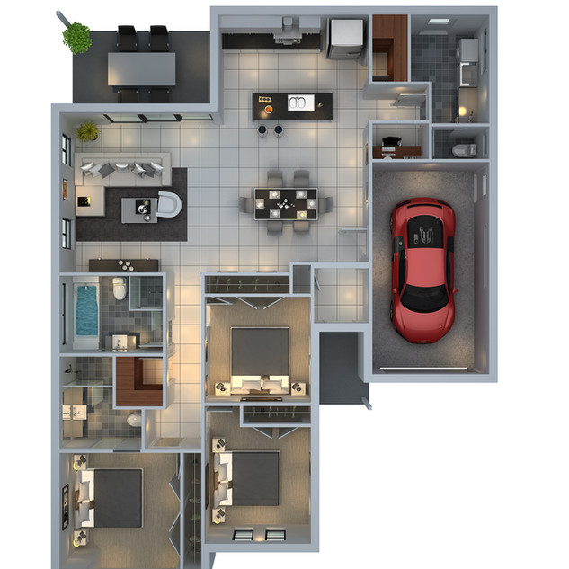 3D floor plan unit7 for a building company - Mudgee NSW