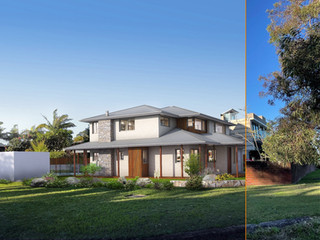 Out with the old in with the new. 3D photomontage for a building company, Sydney NSW