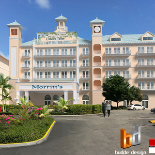 3D Photomontage for a proposed Hotel complex - Cayman Islands