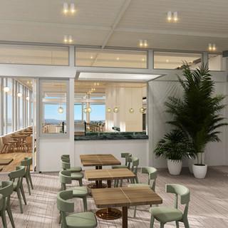 Wedding Venue Regatta Point Canberra ACT 3D Internal Render Take Away Bar area