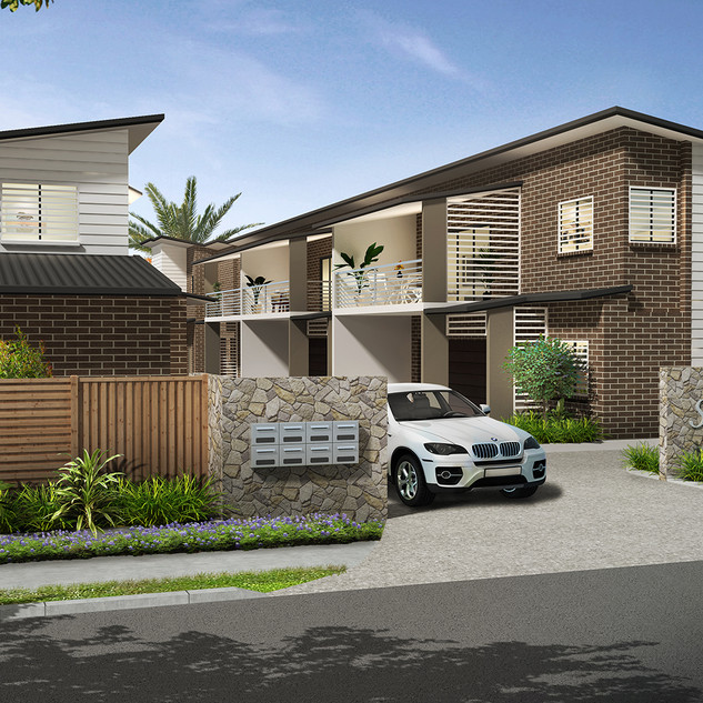 3D external render for a development project - Thorneside QLD