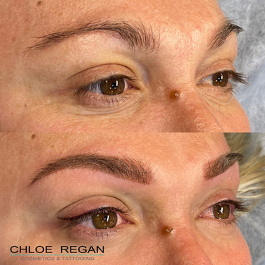 client222 Cosmetic Eyebrow Tattooing before and after