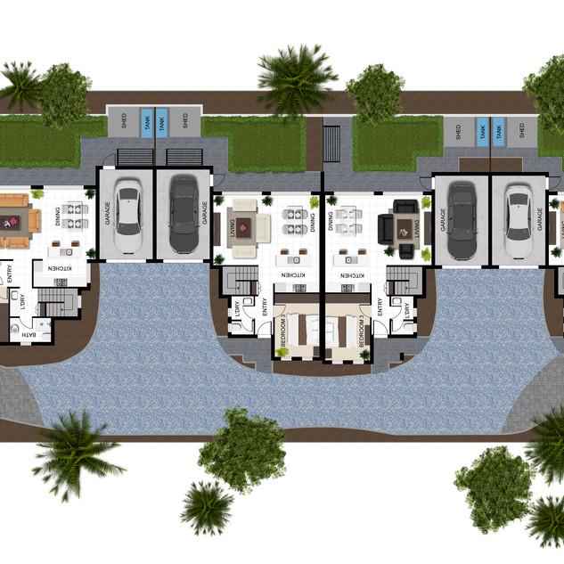 2D Site Plan for a Multi Unit Development - Croydon Victoria