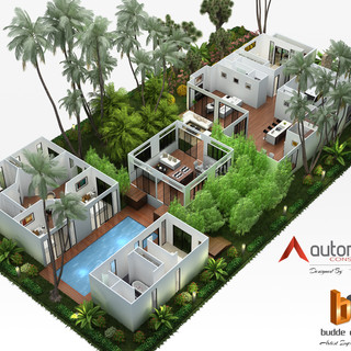 3D Floor plan for a residence in Jakarta Indonesia - Designed by Autorealty, 3D floor plan and Artist Impression by Budde Design