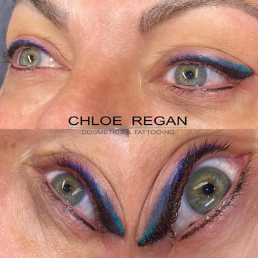 Coloured eyeliner straight after