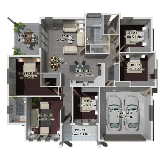 3D Floor plan - Mudgee NSW