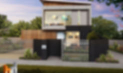External 3D rendering Melbourne, 3 Bedroom 2 level townhouse, image used for real estate marketing - 3D rendering Victoria - Strathmore