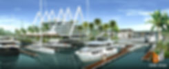 Artist Imprssion Gold Coast QLD, The Boat Works Boat Marina in Coomera