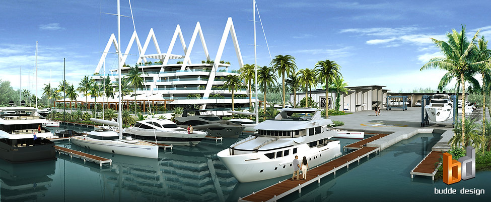 3D Rendering The Boat Works Marina, Coomera Gold Coast QLD