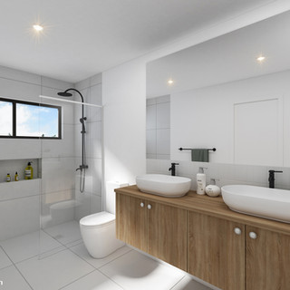 3D bathroom render for a development project - Maroochydore QLD