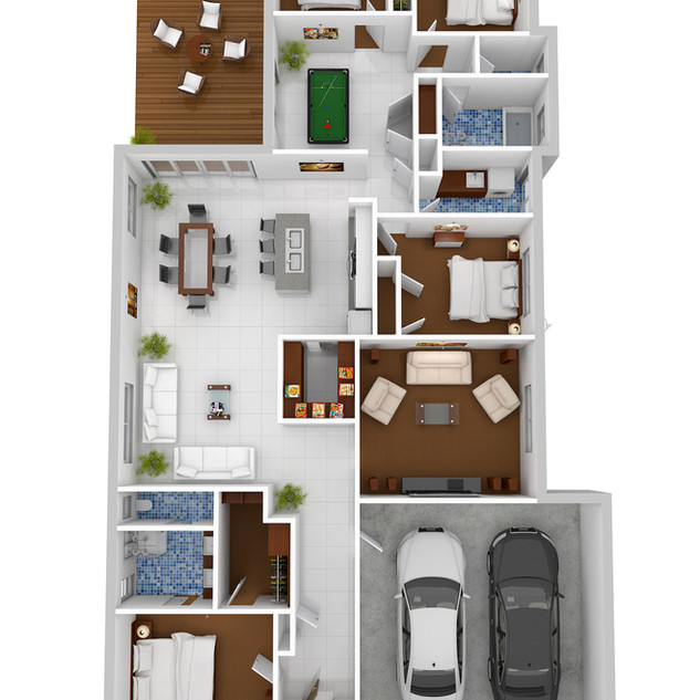 3D Floor Plan for a display home - Sale Victoria