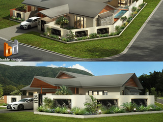 3D Rendeing eye level and birds eye view, Palm Cove QLD by Budde Design