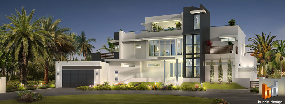 3D Artist Impression Grand Cayman Island, luxury custom design home. Image produced for a leading architect in the Cayman Islands.