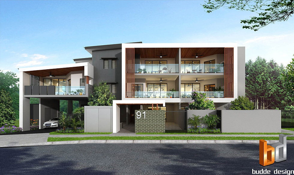 3D Rendering Brisbane QLD for a Development project. image used or real estate marketing