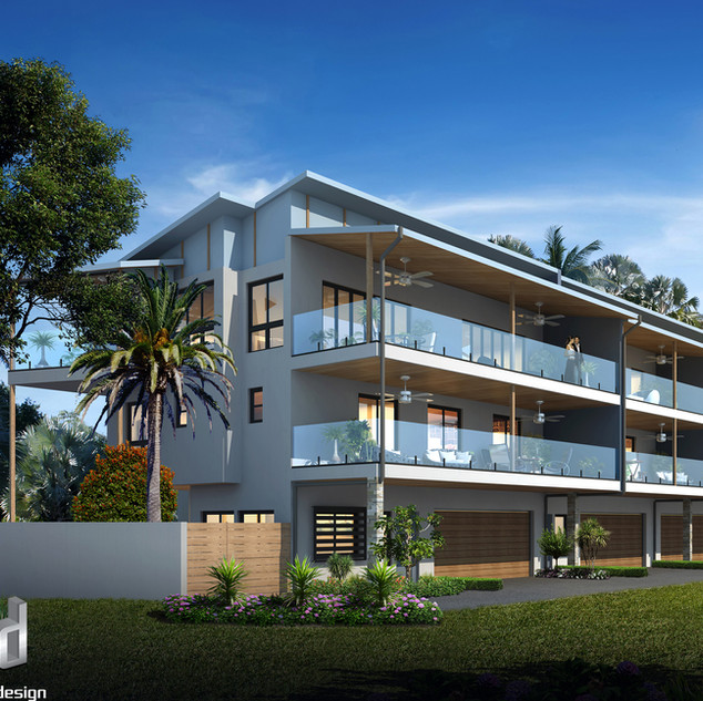 3D external render for a development project - Wellington Point QLD