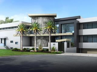 3D Rendering front facade Broadbeach Waters QLD